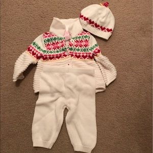 NWOT 3-piece winter knit outfit